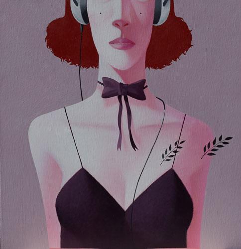 Headphone with Bow Tie