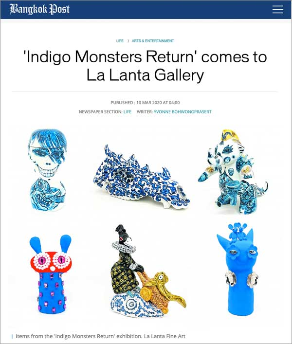 'Indigo Monsters Return' comes to La Lanta Gallery