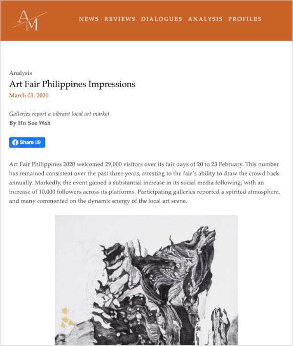 Art Fair Philippines Impressions