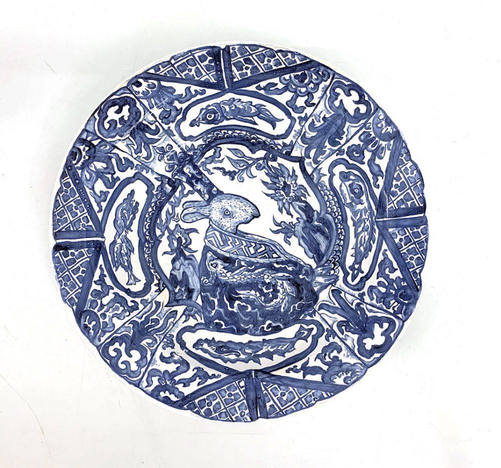 Le Bleu de Caraque series, Rabbit Emperor, Ornament Border