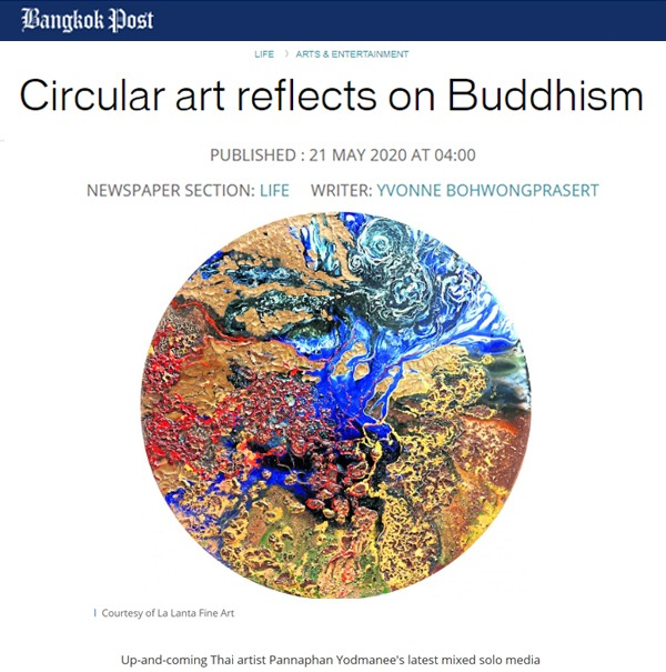 Circular art reflects on Buddhism